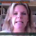 Talking graphic facilitation to students in Canada via Skype.